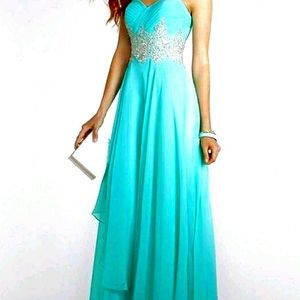 Taupey colored prom dress